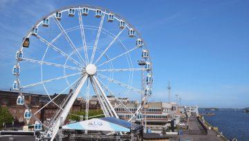 Lasten kanssa Helsingissä: ihaile maisemia maailmanpyörästä